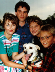 Dave Lieber and family in 1994 after the public marriage proposal in the newspaper.