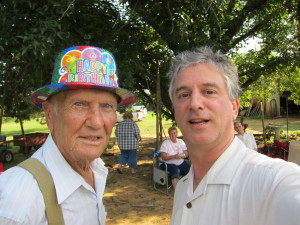 Jack and Dave Lieber at Jack's 93rd birthday party.