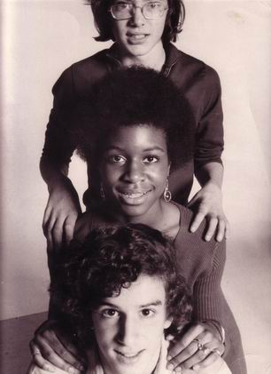 A publicity shot for the NBC TV show. Dorky Dave with co-host Rhodina Williams, now a doctor, and Tom White, who ran for U.S. Congress from Nebraska