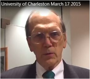 Motivational speaker Dave Lieber gets video testimonial from U. of Charleston President Dr Edwin Welch