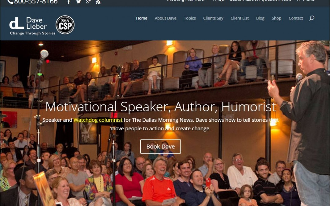 "You're looking at ""Best Speaker Website 2015"""