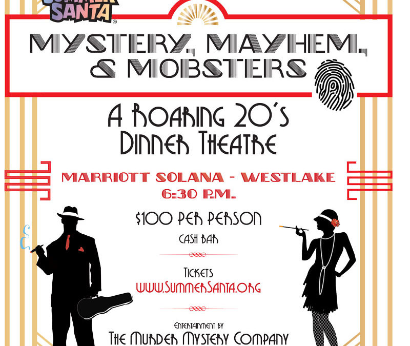 INVITE: Summer Santa's Roaring 20s murder mystery dinner on Feb. 10 is the bee's knees