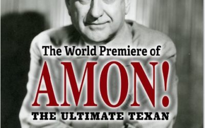 World premiere of my Amon Carter play set for May 2019 in Dallas-Fort Worth, er, Fort Worth-Dallas. Sorry Amon!