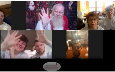 Lieber family meets a zooming Santa Claus
